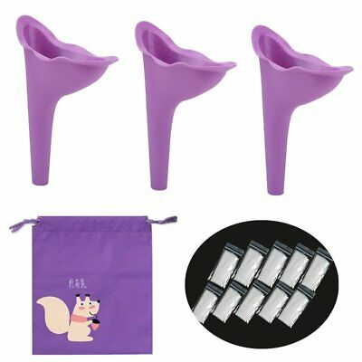 Female Urination Funnel Device-Girl Ladies Lightweight Silicone Portable Outdoor