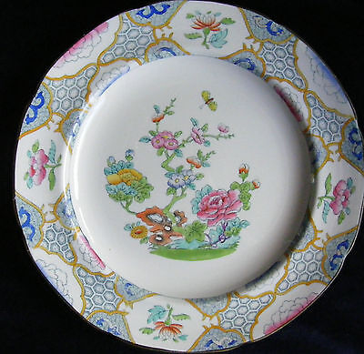 """Copeland Late Spode 9"""" Oriental Themed Plate: Peonies, Patterns, etc"""