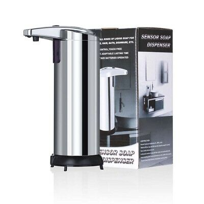 1*Stainless Steel Hands Free Automatic IR Sensor Touchless Soap Liquid Dispenser