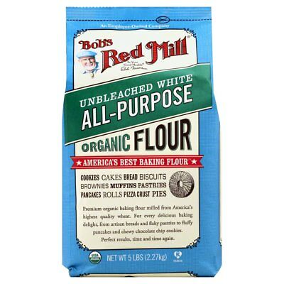 BOBS RED MILL, FLOUR UNBLEACHED ORG, 5 LB, (Pack of 4)