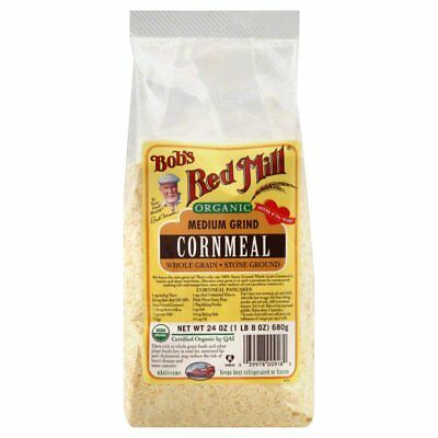 BOBS RED MILL, CORNMEAL MEDIUM ORG, 24 OZ, (Pack of 4)