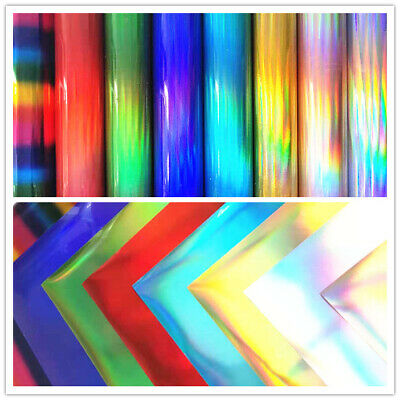 Holographic Heat Transfer Vinyl Iron-on Fabric HTV Film Printable T-Shirt Crafts