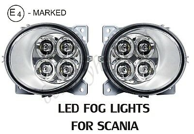 2 x LED Daytime Fog Lights Lamp for Scania R P G series OEM replace Emark