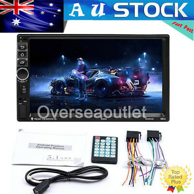 "7"" 2DIN 4 Core Android 7.1 4G WIFI Car Radio Stereo MP5 Player GPS 16GB + Camera"