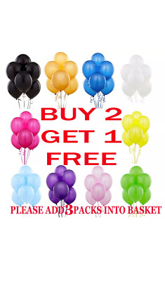 Pack of 20 - 10 inch Latex Helium Air Quality Balloons for Party Birthday