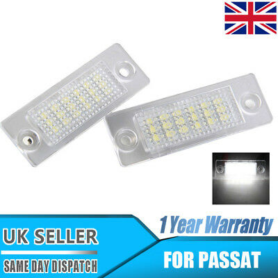 2x LED License Number Plate Light white For VW Touran Golf Passat Jetta Caddy T5