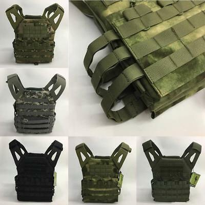Tactical Military Airsoft Vest Paintball Molle Strike Plate Carrier Swat Comb BG