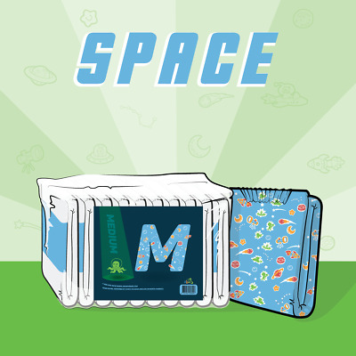 ABUniverse ABU Space Diapers - Pack of 10