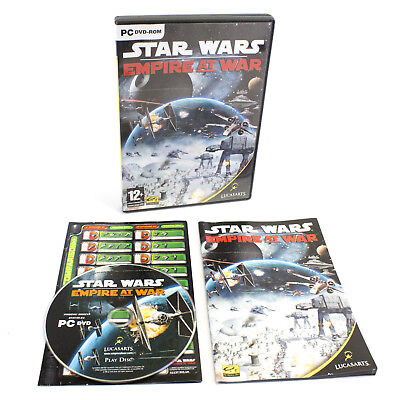 Star Wars: Empire at War for PC DVD-ROM by LucasArts, 2006, VGC, CIB