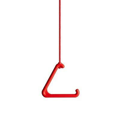 Toilet Alarm Pull Cord Handle, 2.5 Meters of Cord and Universal Connector. Red.