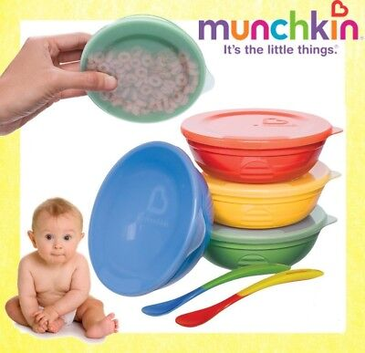 Munchkin Love a Bowls, 10 Piece Bowl and Spoon Set  **FREE DELIVERY**RRP £14.99