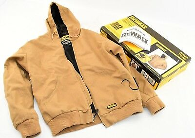 DEWALT Large 20V/12V MAX Lithium Ion Khaki Hooded Heated JACKET ONLY DCHJ064C1-L