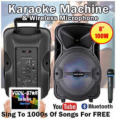 Vocal-Star Bluetooth Karaoke Machine Speaker Set Inc 2 Microphones 100w VS-T100