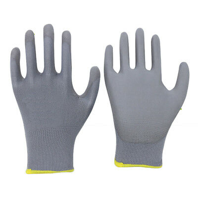 Anti-static PU Palm Coated Safety Precision Work Gloves, Black, Gray