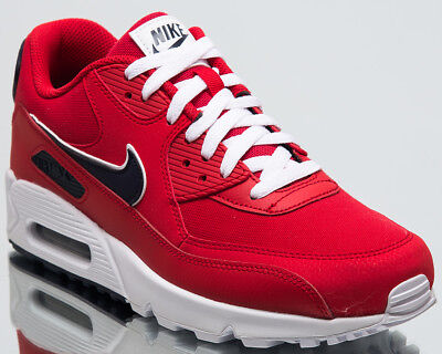 check out c005f bfee9 Nike Air Max 90 Essential Men New Shoes Mens University Red Sneakers AJ1285- 601
