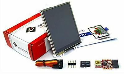 4D Systems SK-28PTU TFT LCD Colour Display Starter Kit / Touch Screen, 2.8in, 24