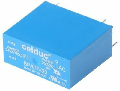Celduc 4 A Solid State Relay, Zero Crossing, PCB Mount Triac, 275 V ac Maximum L