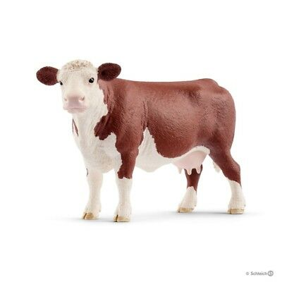 MUCCA HEREFORD animali SCHLEICH gioco FARM WORLD 13867 miniature in resina COW e