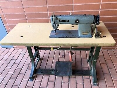 Brother DB2-B758-3 Industrial Sewing Machine with Table (Read Description)