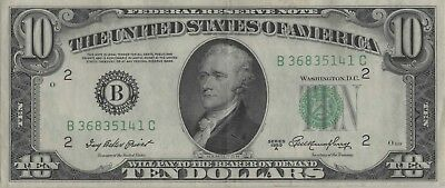 10 Dollars Serie 1950A District New York EF Kat.-Fr.2011B