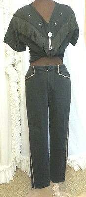 80s Ralph Lauren Studded Piping Soft Stretchy Jeans Pants