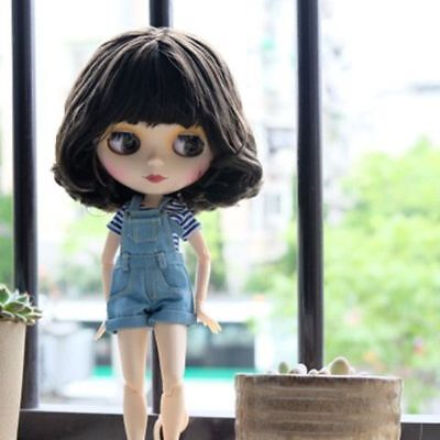 Blythe Doll Nude Doll Dark Purple bang hair J1613 From factory Transparent skin