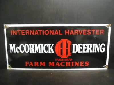 Vintage Mccormick-Deering Tractors Porcelain Sign International Harvester