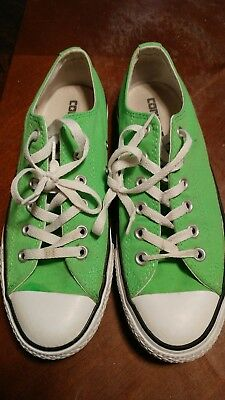 CONVERSE ALL STAR WOMENS GREEN CANVAS SNEAKERS - SIZE 7 CLEAN low tops