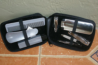 Trim Men's Grooming Tools Personal Care Set + Travel Pouch, 8 Piece Set - NEW