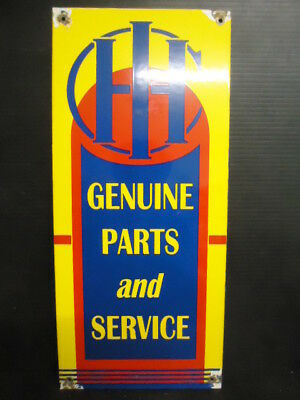 Vintage  International Harvester Tractors Parts And Sevice Porcelain Sign