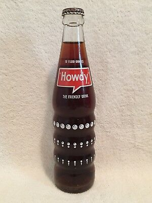 FULL 10oz HOWDY ROOT BEER ACL SODA BOTTLE SEVEN-UP COMPANY 7UP