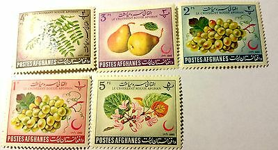 Afghanistan  Scott#613-617 Cp   Cat Value At $4.00  Mint/h ....worldwide Stamps