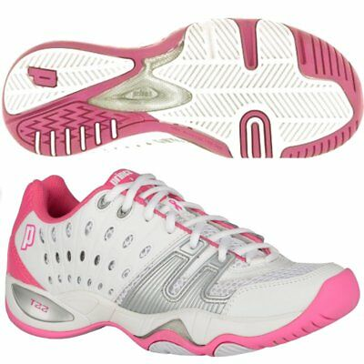 Prince T22 Women Tennis Shoe (White/Pink)