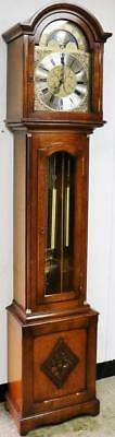 Comitti London Longcase Clock 3 Weight Driven Musical 8 Day Grandfather Clock