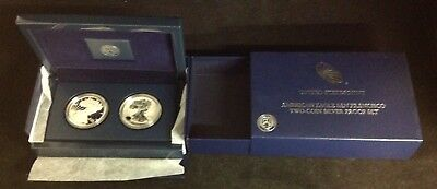2012 Us Mint American Eagle San Francisco Two Coin Silver Proof Set