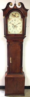 Antique English Longcase Grandfather Clock Painted Dial C1824 Deacon Of Barton