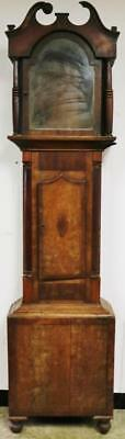 Antique English Mahogany Grandfather Carved Longcase Clock Case Only C1800
