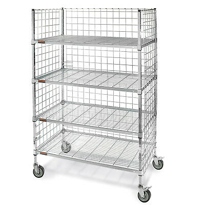 """Square-Post Wire Stock Trucks with Smart Casters, 48""""W x 24""""D x 70""""H, Lot of 1"""