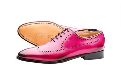 Lord Byron Bespoke Brogue Shoes hand crafted in the finest leather UK size 10