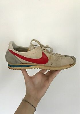 Vintage Nylon Nike Cortez 7.5 M / 9 W - MADE IN JAPAN (1975-77) Red White & Blue