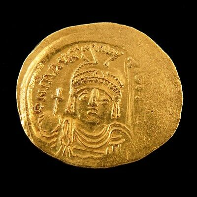 Byzantine Maurice Tiberius Angel Gold Solidus Coin