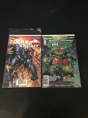 DC The New 52 Batman The Dark Night and Green Lantern Corps issue 1 first print