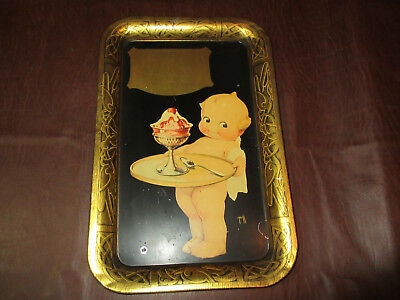 VINTAGE 1920s 30s HENDLERS ICE CREAM BALTIMORE METAL TRAY ROSE O'NEIL KEWPIE ART