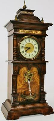 Amazing Antique Automation Waterfall Mantel Clock Fully Working made by HAC Wow!