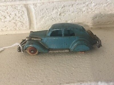 "Antique rare Hubley Cast iron1934 Studebaker Toy Automobile car 5"" with spare"