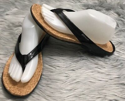 2e76c31ff Donna Karan DKNY Woman s Bianca Fashion Flip Flop Thong Black Sandals Size  10