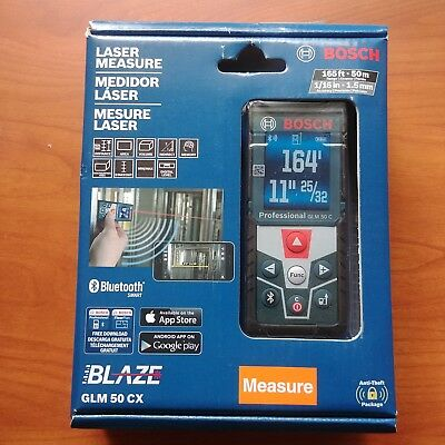 NEW Bosch GLM 50 CX 165' Laser Measure Bluetooth GLM50 BLAZE