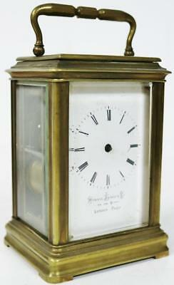 French Antique Gorge Case 8 Day Mantel Repeat Carriage Clock Spares Repair C1880