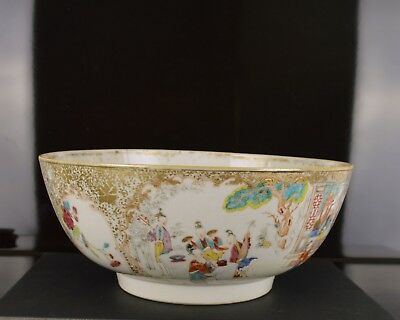 A Very Fine Chinese Qianlong Period Punch Bowl With Figures