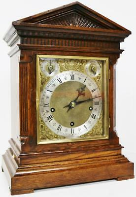 Quality W&H Antique 8 Day Musical Mahogany Westminster Striking Bracket Clock